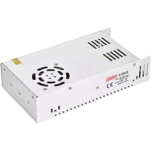 Boenxuan 12V360W de Commutation d'alimentation, 12V30A Alimentation du Moniteur 12V DC Lampe LED avec des Faisceaux Lumineux de Commutation de Source d'alimentation,Blanc