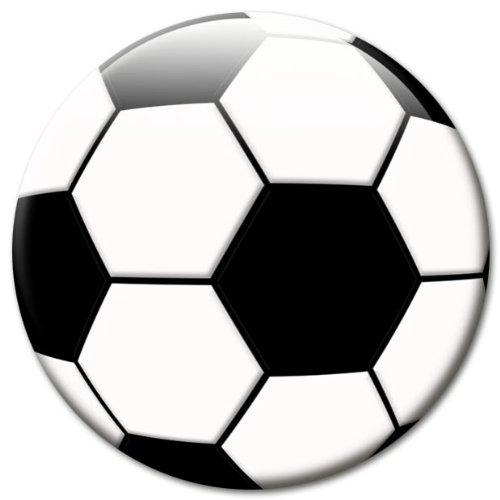 Fan Magnet Fußball schwarz-weiß Ø 50 mm, Kühlschrankmagnet auch für Whiteboard, Magnettafel und viele weiter metallische Untergründe