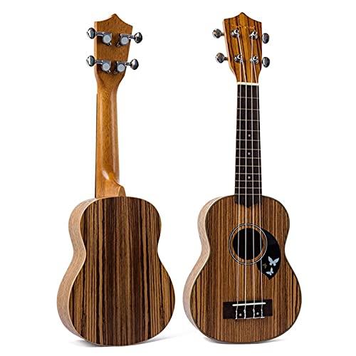 OCGDZ 21 Zoll 4 Saiten Laminatholz Ukulele Kleine Gitarre Acoustic Music Instrument