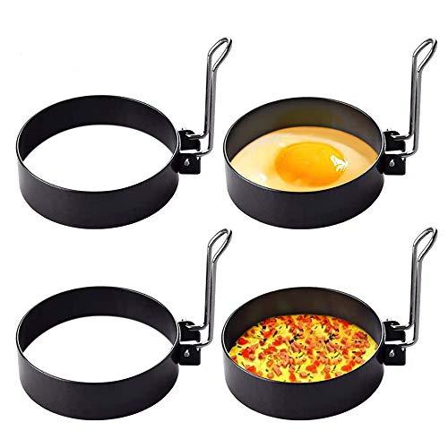 Stainless Steel Egg Ring, 4 Pack