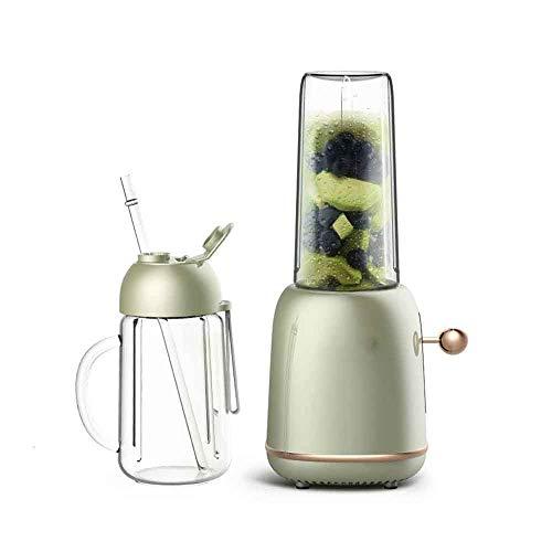 ZNBJJWCP Exprimidor portátil para el hogar licuadora automática de Frutas y Verduras Multifuncional Mini Taza exprimidora de Jugo Retro Verde