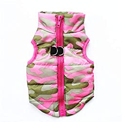 1.Size:X-Small--Back length--19cm,Chest--30cm,Neck--20cm;this is small pet coat,for weight 1.2-2 KG pet. 2.Material:Nylon, cotton.Made of waterproof material outer layer, soft and warm inner layer, windproof and snowproof. Let your dog enjoy playing ...