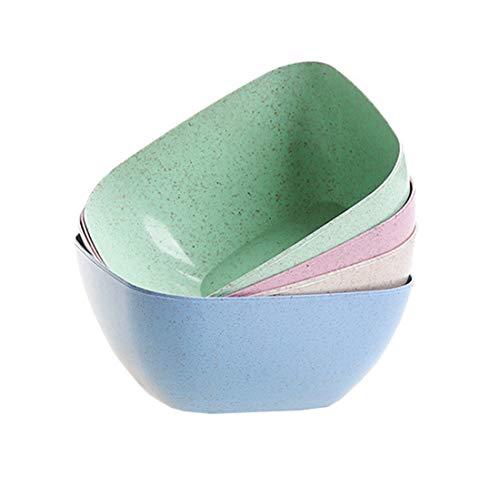 Cuencos para ensalada de pasta, juego de 4, plástico irrompible