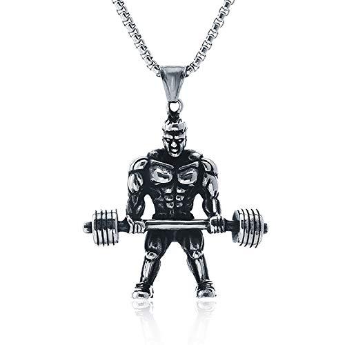 DCFVG Herkules Gewichtheben Anhänger Halskette für Männer