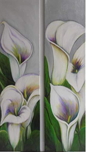 Atelier Karin Haase zeitgenössische moderne Malerei bunte Calla Wand Bild Unikat Acryl auf Leinwand Hand gemalt