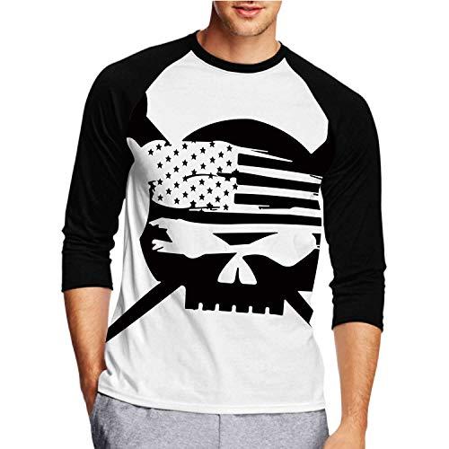 C COABALLA Ironworker Flag,Fashion Crew Neck T-Shirt for Men/Boys L