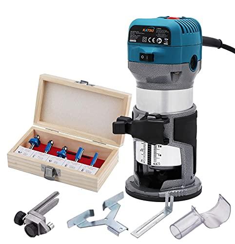 Cortadora de madera manual eléctrica KATSU, laminador, enrutador, herramienta de ensamblaje, 220...