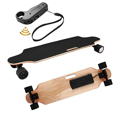 Aceshin Electric Skateboard Longboard with Wireless Handheld Remote Control 350W