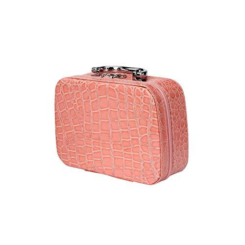 ZWWZ Cosmetic Bag Schwarz-Spielraum-kosmetischer Beutel PU-Leder mit Spiegel-Verfassungs-Werkzeug-Speicher-Beutel-Kasten Schmuckkasten wasserdichte Zipper-Beutel-C- HAIKE (Color : E, Size : Size)