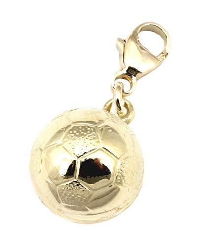 Anhänger Charm Fußball WM 2014 Gold 333 Einhänger Neu Fussball Gelbgold Unisex