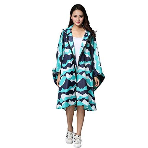 Adulte Hommes et Femmes Couple Manteau imperméable Poncho léger Stockage en Plein air avec de Grands Chantiers Poncho Pluie