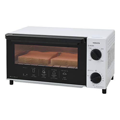 [山善] オーブントースター 温度調整機能付き 1000W ホワイト YTN-C101(W) [メーカー保証1年]