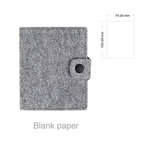 Notebook LKU Pocket notebook memoblok wolvilt notepad briefpapier cadeau reiziger dagboek tekst, grijze bank