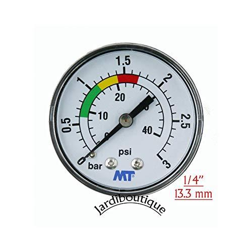 'Manometer ABS 840003 ABS für Filter Pool Befestigung Hinten Verbindungsstück Axial Manometer Gewinde 1/4 - MT - jardiboutique