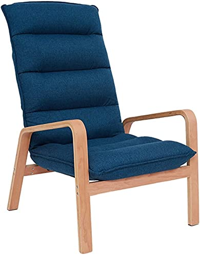ZGYZ Adjustable Lounge Chair,Living Room/Bedroom/Balcony Upholstered Sofa Chair High Backrest Armchair with Wooden Legs,Leisure Reclining Chair,Family Practical Chair