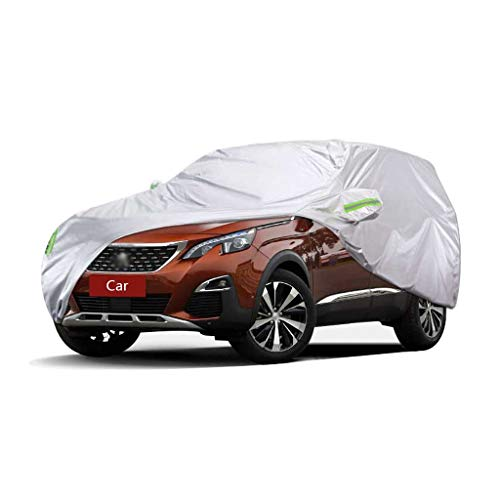 Couverture de voiture Compatible avec Peugeot 3008 Couverture de voiture SUV épais Oxford Tissu Protection solaire Protection contre la pluie Couverture chaude Couverture de voiture (Size : 2017)