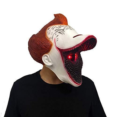 yacn Pennywise máscara de Payaso asustadizo de Halloween máscara de la máscara LED con Super Grande de la Boca de Vestuario Pennywise para Adultos