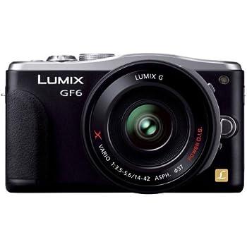 パナソニック ルミックス ミラーレス一眼カメラ ルミックス GF6 レンズキット 電動標準ズームレンズ付属 ブラック DMC-GF6X-K