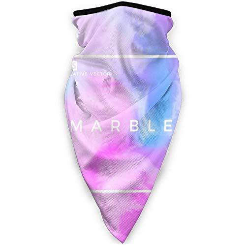July winddichte sportmasker van gekleurd marmer, multifunctionele gezichtssjaal van polyester, geschikt voor dagelijks gebruik