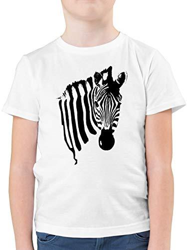 Tiermotive Kind - Zebra - 152 (12/13 Jahre) - Weiß - t Shirts Jungen gelb 140 - F130K - Kinder Tshirts und T-Shirt für Jungen
