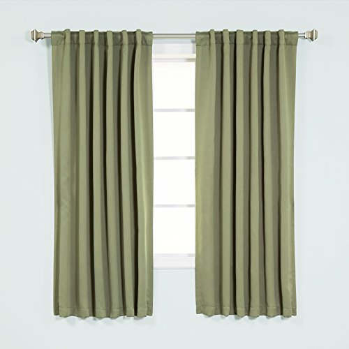 Best Home Fashion Premium Blackout Curtain Panels - Solid Thermal Insulated Window Treatment...