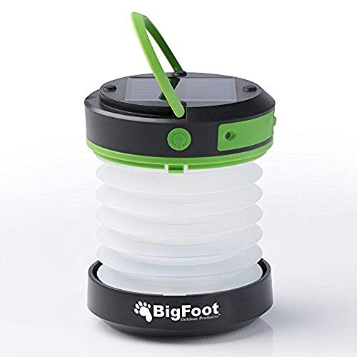 Bigfoot Outdoor Products Compact Solar Camping Lantern with USB...