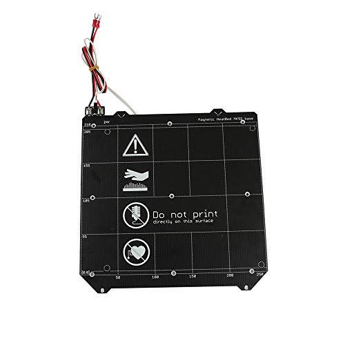 Drucker-Zubehör, 250 x 254 mm, magnetisch, beheizt, Federstahlplatte für PRUSA i3 MK3/MK3S/MK52 3D-Drucker-Teil Hot Bed