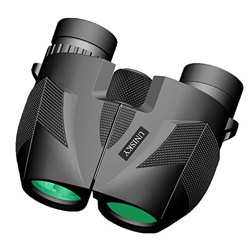 10X25 Powerful Binoculars for Kids Adults, Folding Compact Binocular Large Eyepieces Lens Zoom with Weak Light Night Vision Portable Lightweight (0.5lbs) for Bird Watching Hunting Sports Match