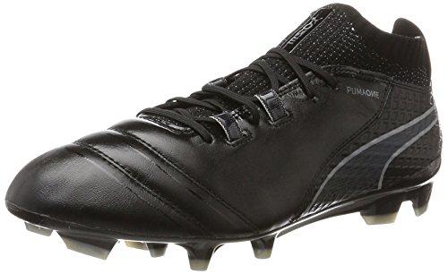 Puma PUMA Herren ONE 17.1 FG Fußballschuhe, Schwarz (Black-Black-Silver), 44.5 EU