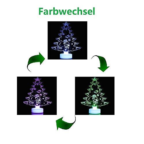About1988 LED Mini USB angetrieben 7 Farben LWL Saison Dekorative Weihnachtsbaum mit Top Sterne Licht für Frohe Weihnachten Urlaub Dekor für Notebook Desktop