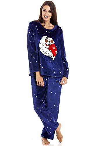Conjuntos de Pijama de Personaje de Lana Polar súper Suave y cálida para Mujer 38/40 Sloth