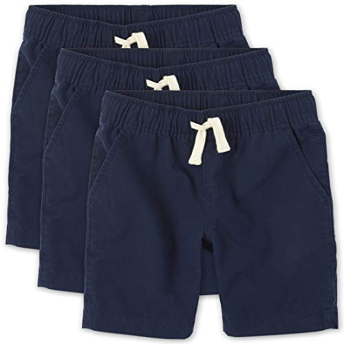 The Children's Place Boys Uniform Pull On Jogger Shorts 3-Pack, Tidal, 7 Years