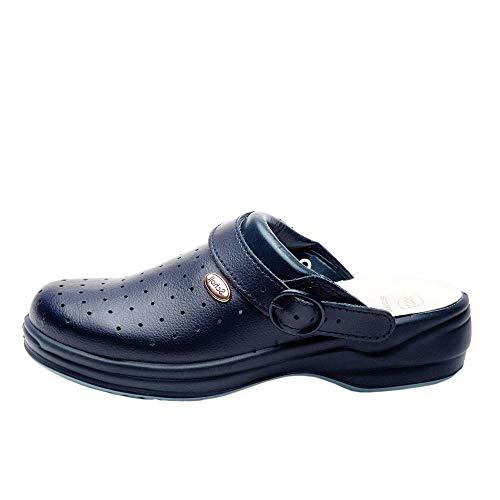 Scholl - Sandalias perforadas, talla 38, color azul marino