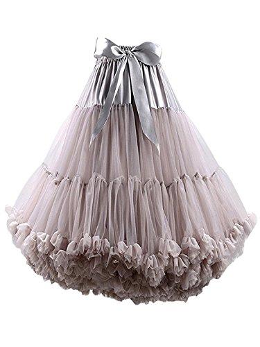 FOLOBE tutú de Las Mujeres de Ballet de Danza Multi-Capa de la Falda hinchada Adultos Suave Enagua