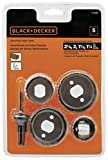 BLACK+DECKER Hole Saw Kit, Assorted, 5-Piece (71-120)