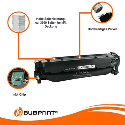 Bubprint Toner kompatibel für HP CC530A 304A für Color Laserjet CM2320FXI CM2320NF CM2320N MFP CP2020 CP2025 CP2025N CP2025DN 3500 S. Schwarz Black