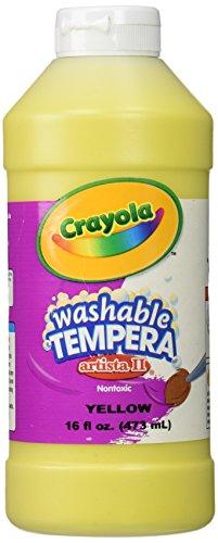 Crayola Artista II Washable Tempera Paint 16oz Yellow