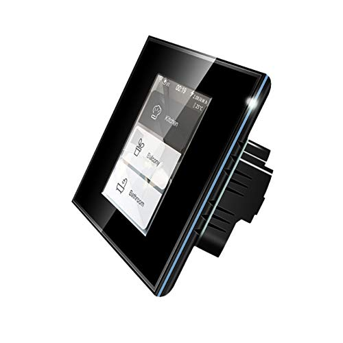 SKTE Wifi Lcd Intelligente Parete Interruttore Della Lampada Interruttore Indicatore Led Intelligente A Quattro-In-Un Interruttore Smart Touch Schermo A Basso Lampada Da Parete di