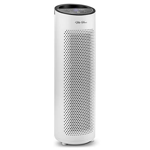 Mc huis AMAZONIA luchtreiniger, krachtig, stil, 3 HEPA-filters, nachtmodus, 40 W, wit