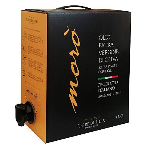 1 Packung mit 3 Litern - Natives Olivenöl Extra - EVO - Morò - Terre Di Lidia - BIB - Bag in Box 3 Liter - 100{9fdf9529df080a68d1373e4b3e90fd89b9630d2e71d875ee2c3d4e934acc4096} italienisches Produkt - Olivenölkampagne 2020/2021 - Ogliarola Sorte