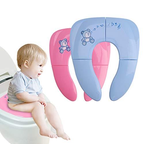 Asiento de inodoro plegable para bebé con seguridad y asiento de inodoro...