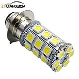 Ruiandsion H6M P15D LED Fog Light Bulb DC 6-30V 5050 27SMD 600lm LED Replacement Bulb for Motorcycle Headlight Fog Light DRL Daytime Driving Lamp,6000K White (Pack of 1)