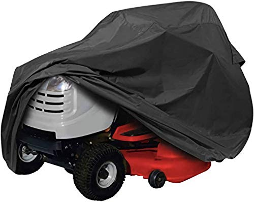 DOOGL Riding Lawn Mower Cover,Heavy Duty Waterproof Universal Fit Mower Cover, 210D Polyester Oxford Tractor Cover Durable For Your Rider Garden Tractor-140×66×91cm