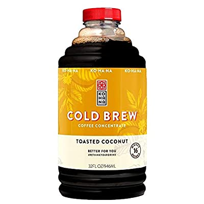 Kohana Coffee Cold Brew Concentrate, Toasted Coconut, 32 oz, 1-Pack