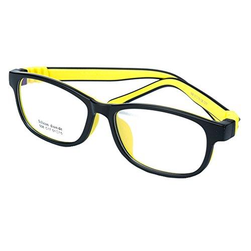 Juleya Kinder Gläser Rahmen - Silikon - Kinder Brillen Clear Lens Retro Reading Eyewear für Mädchen Jungen