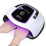Lampe UV Sèche Ongles, 108W UV LED Séchoir à Ongles Professionnel Automatique pour 2 mains, Un grand espace pour 10 doigts à la fois, Base Aimant, Séchage Rapide, pour Vernis Semi Permanent Gel Vernis