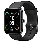 HAFURY Smart Watch, 1.69'Fitness Tracker with Heart Rate Monitor & Blood Oxygen Saturation, Alexa Built-in, 5ATM Waterproof Smartwatch, Sleep Step Activity Tracker for Women Men for Android iOS, Black