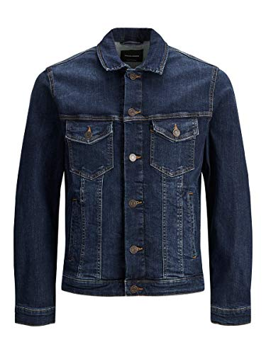 JACK & JONES Herren Jjialvin Jjjacket Agi 001 Noos Denim Jacket, Blue Denim, XL EU