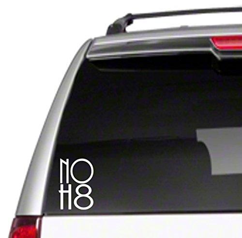 "No H8 5"" Car Vinyl Decal hate descriminate equality i love peace promote speech orgG23"