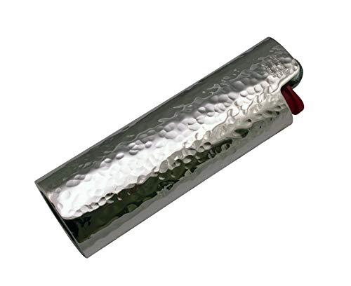 Arfasatti Bic aansteker van 925 sterling zilver, met de hand gehamerd, vervaardigd in Italië